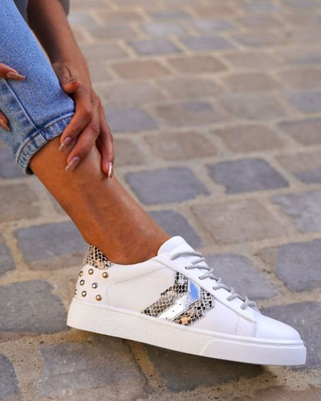 cl11 sneakers python femmes